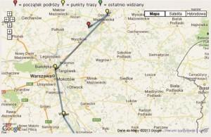 03 - Zdjecie geocaching - mapa geokrety