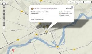 12 - Zdjecie geocaching - mapka z buzkami przyblizenie