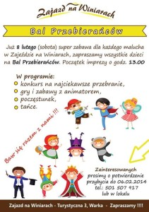 Bal Przebierancow w Zajezdzie - plakat