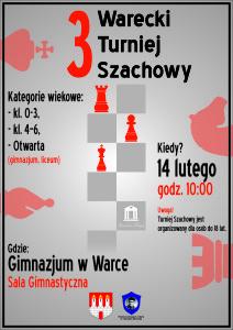 Plakat Turniej Szachowy 3