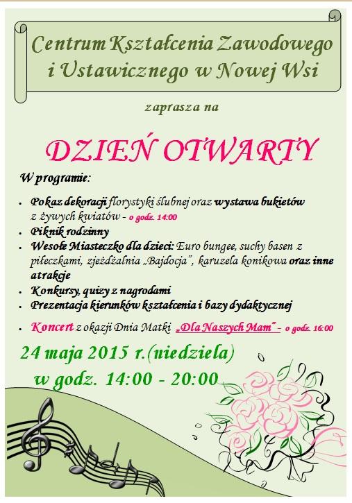 Dzien Otwarty - plakat