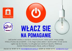 Plakat nabor na wolontariuszy