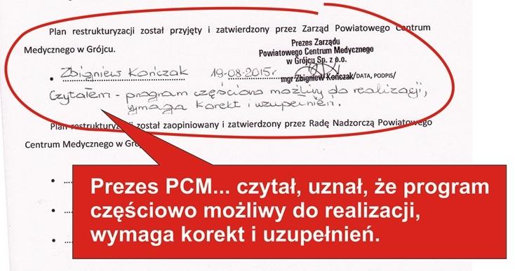 Akceptacja PROGRAMU przez Zarzad PCM zm1